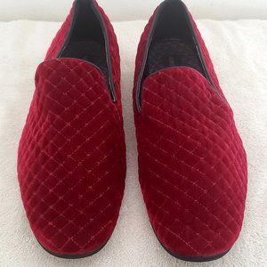 mens red quilted velvet loafers 12 Giorgio Brutini